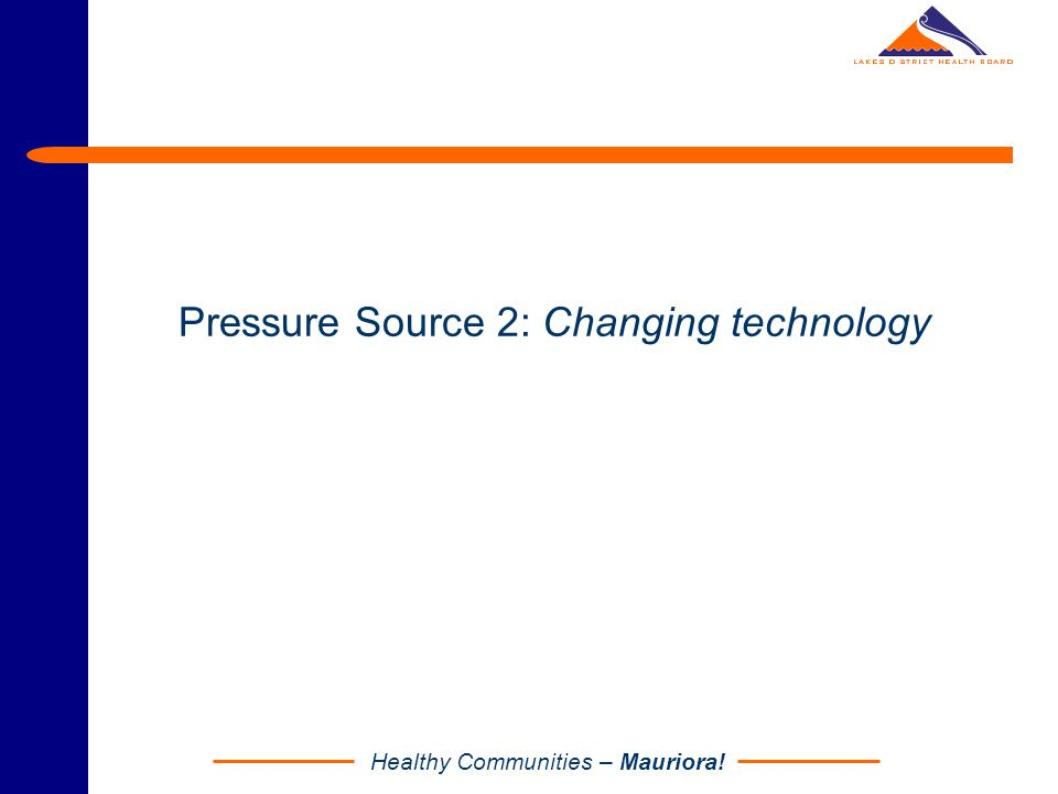 Pressure Source 2: Changing technology