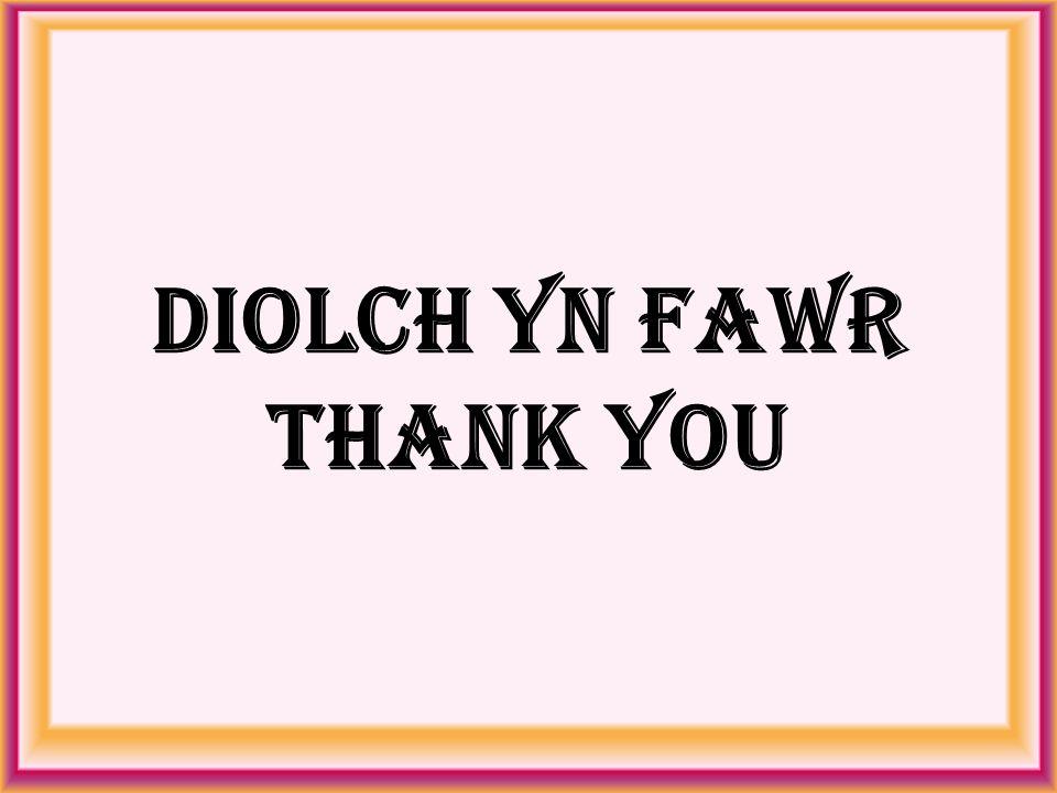Diolch Yn Fawr Thank You