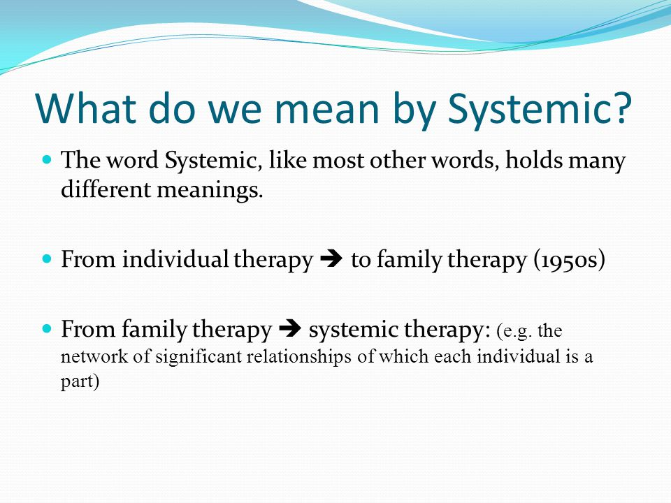 Working with families The key themes include: life-long effects of having a son/daughter with ID.