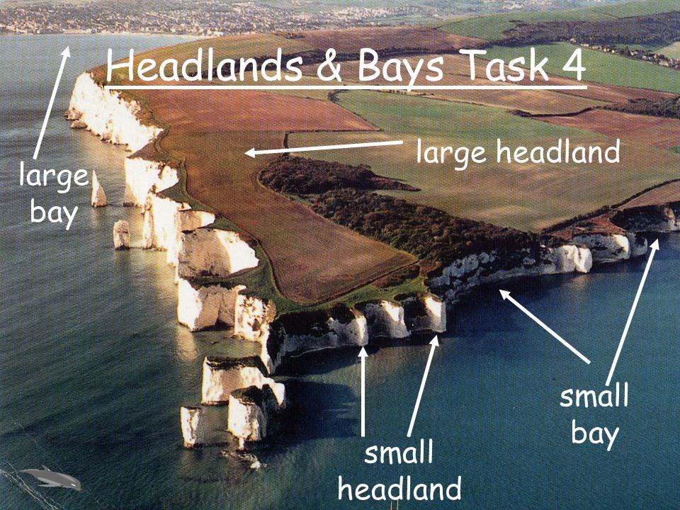 Headlands & Bays Task 4 large headland small headland large bay small bay