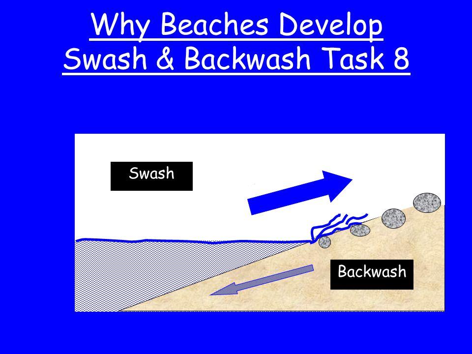Why Beaches Develop Swash & Backwash Task 8 Backwash Swash
