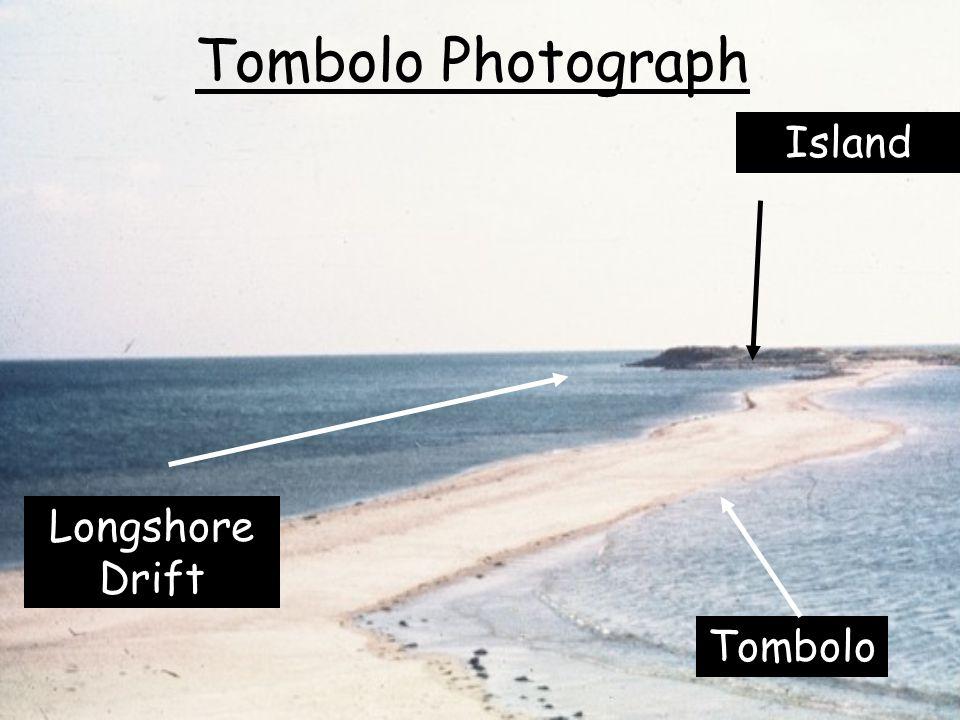 Tombolo Photograph Island Tombolo Longshore Drift