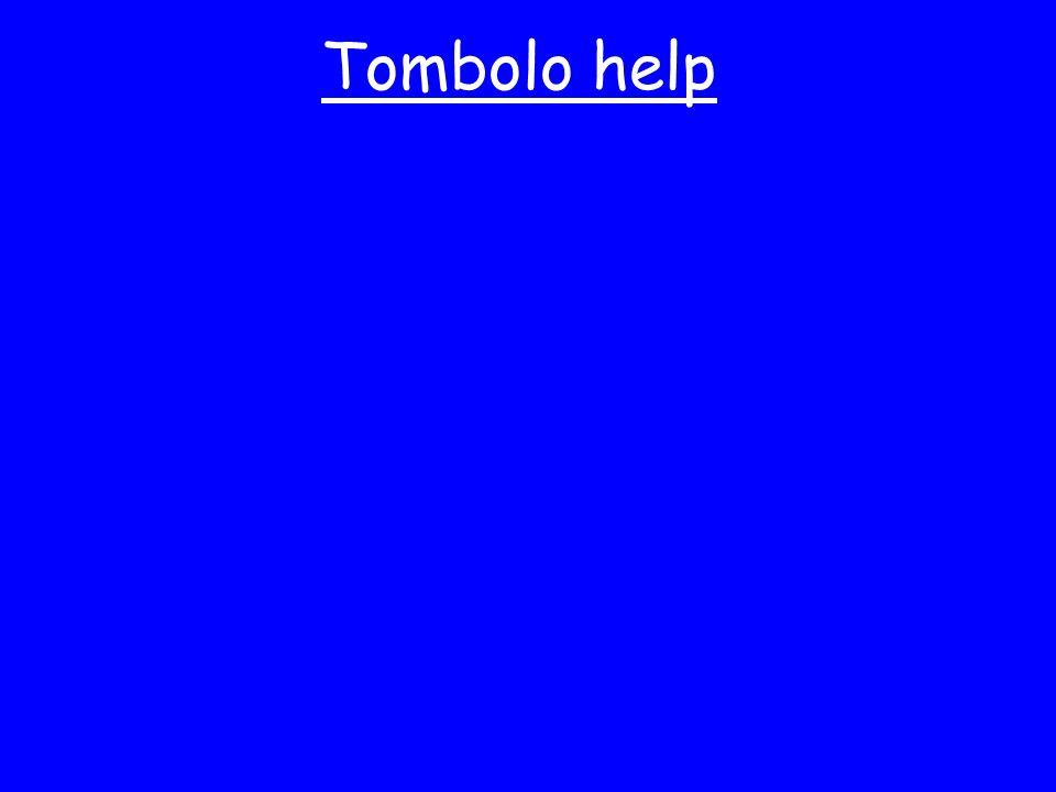 Tombolo help