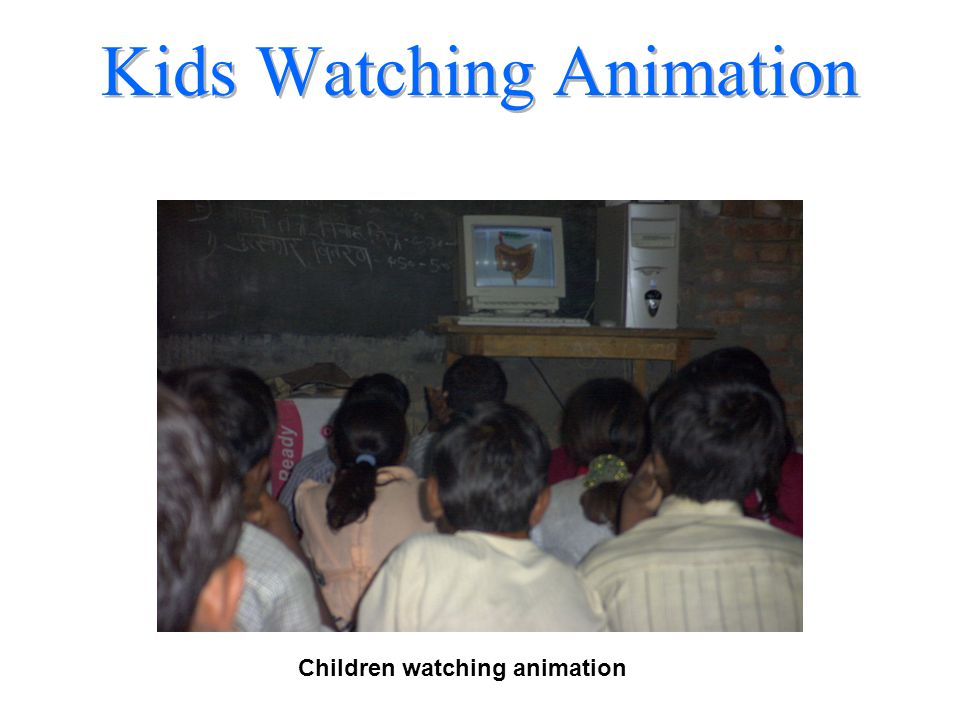 Kids Watching Animation Children watching animation