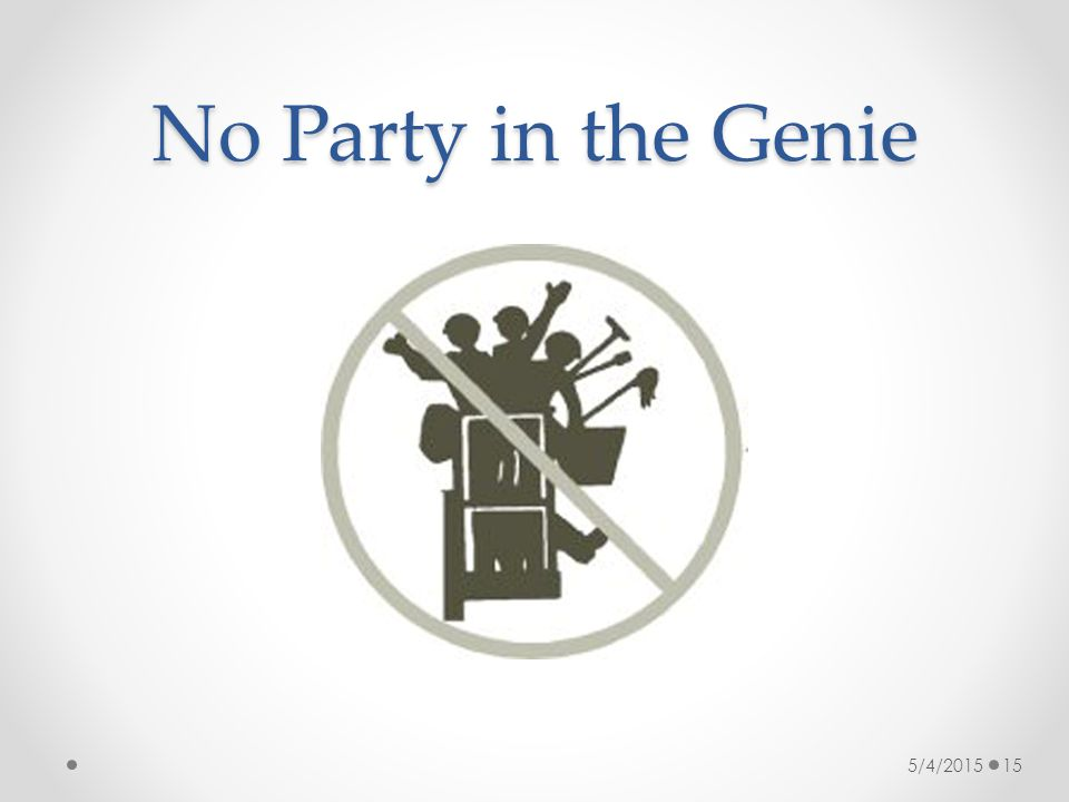 No Party in the Genie 5/4/2015 15