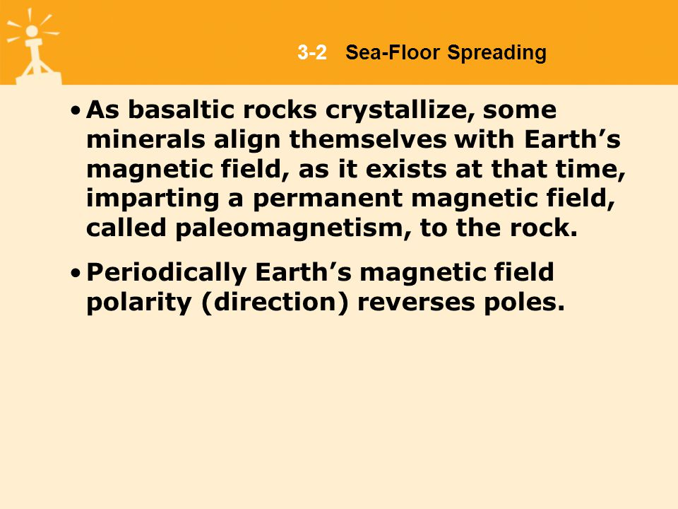 As basaltic rocks crystallize, some minerals align themselves with Earth's magnetic field, as it exists at that time, imparting a permanent magnetic field, called paleomagnetism, to the rock.