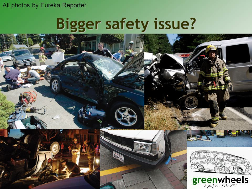 Bigger safety issue? All photos by Eureka Reporter