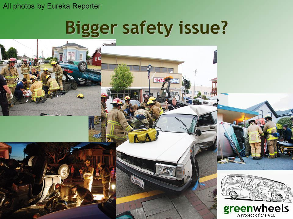 Bigger safety issue All photos by Eureka Reporter