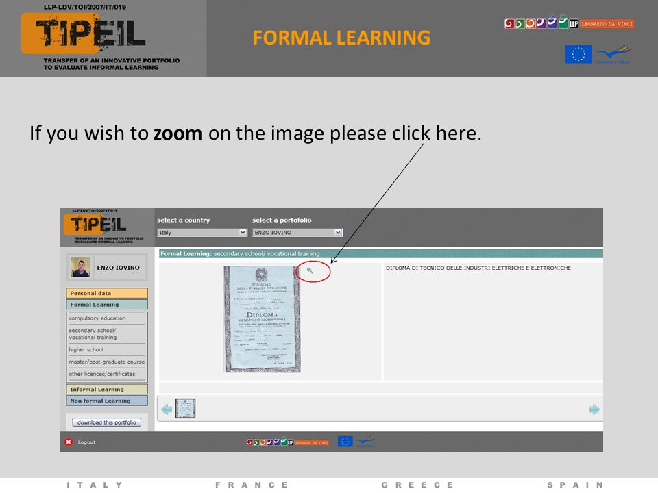 If you wish to zoom on the image please click here. FORMAL LEARNING
