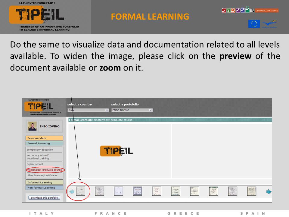 Do the same to visualize data and documentation related to all levels available.