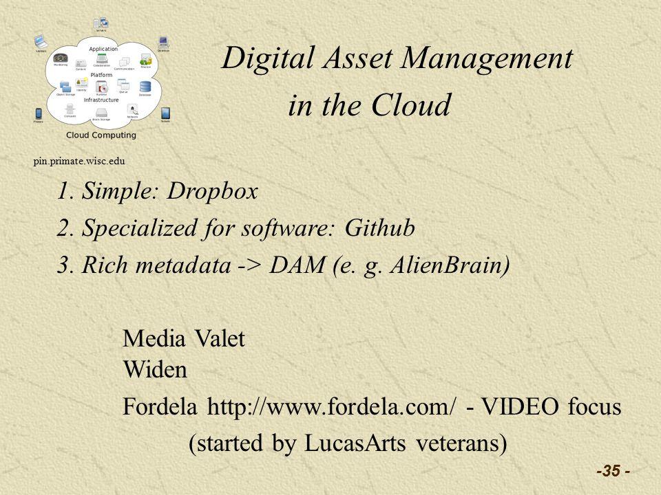 -35 - Digital Asset Management in the Cloud pin.primate.wisc.edu 1.