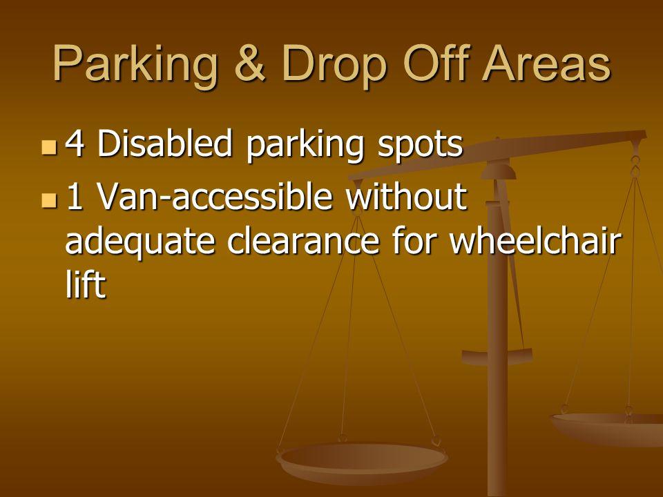 Entrance Create front entrance accessibility Create front entrance accessibility Install lighter doors Install lighter doors Recalibrate handle bars Recalibrate handle bars