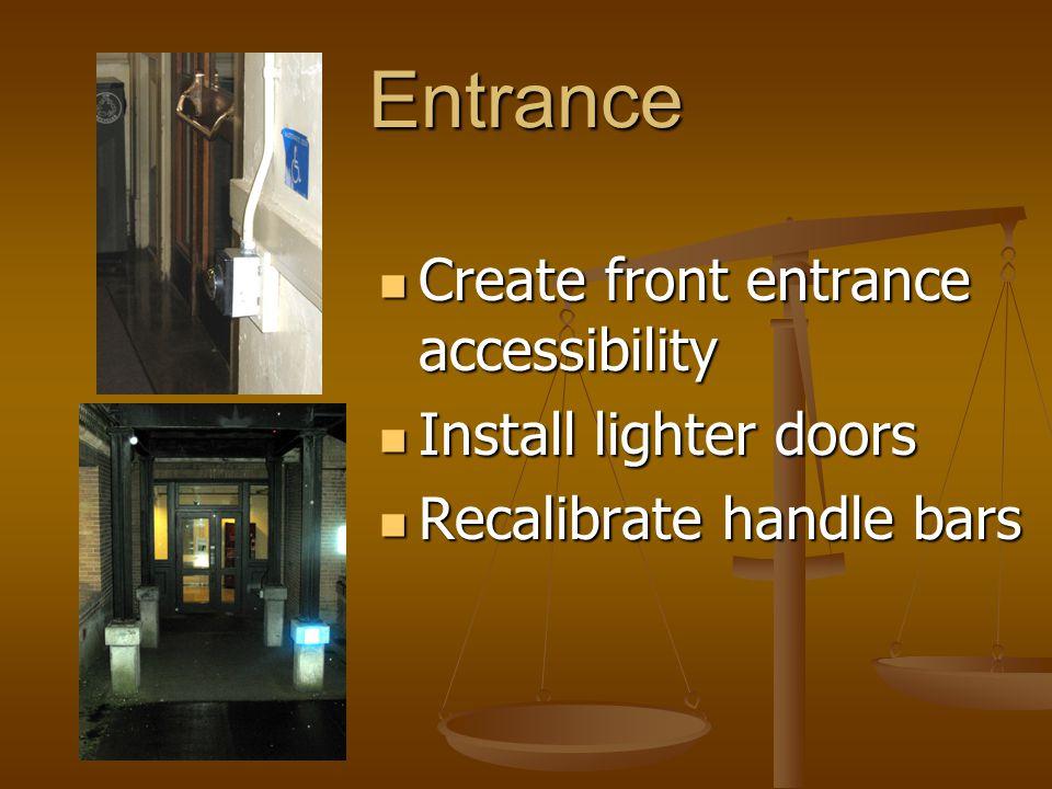 Navigating Hallways Widen door leading to elevator Widen door leading to elevator Enlarge T-shaped spaces and hallways Enlarge T-shaped spaces and hallways Remove obstructing partitions Remove obstructing partitions