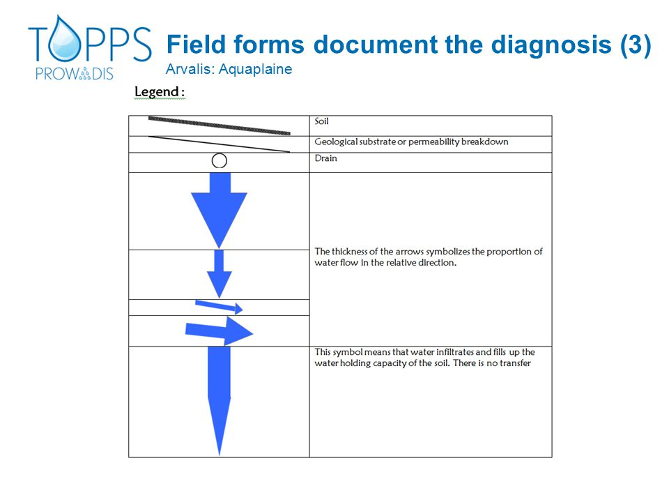 Field forms document the diagnosis (3) Arvalis: Aquaplaine
