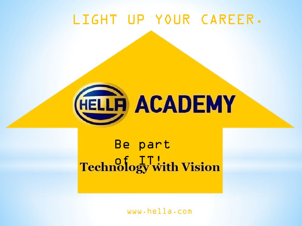 The Hella Academy offers you the chance to play an active part in exciting projects and think outside the box.