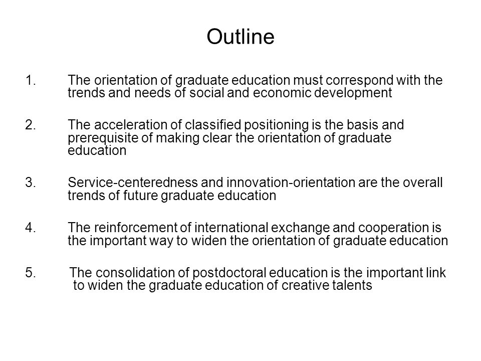 classified graduate education Classification of graduates Academic- oriented (20-25 % ) For universities and research institutes Professional- oriented (75-80%) For industries and markets Redistribution of graduates Opportunity to Choose the type of education Opportunity to pursue further study trans- disciplinarily Restricted to similar or neighboring disciplines Basic operational procedures of classified graduate education in Nankai University