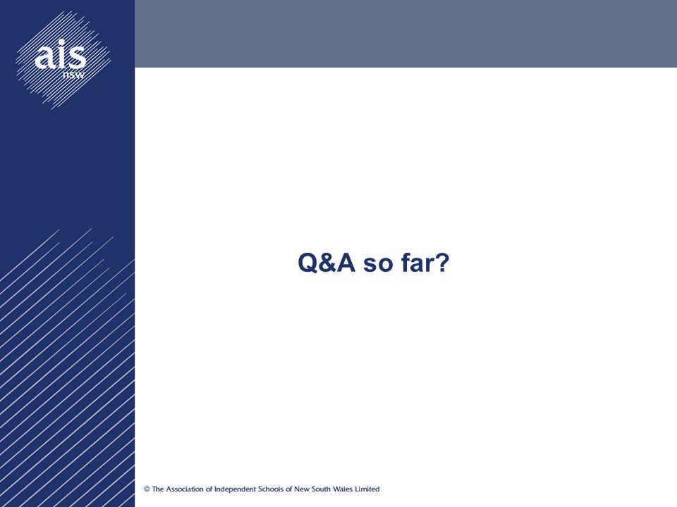 Q&A so far?