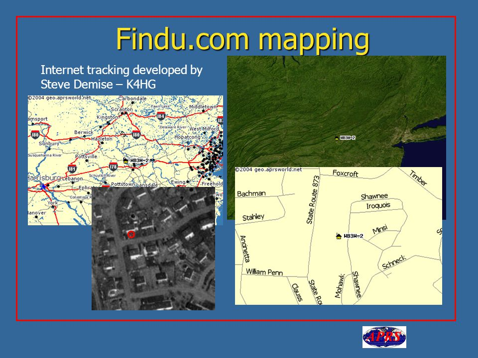 Findu.com mapping Internet tracking developed by Steve Demise – K4HG