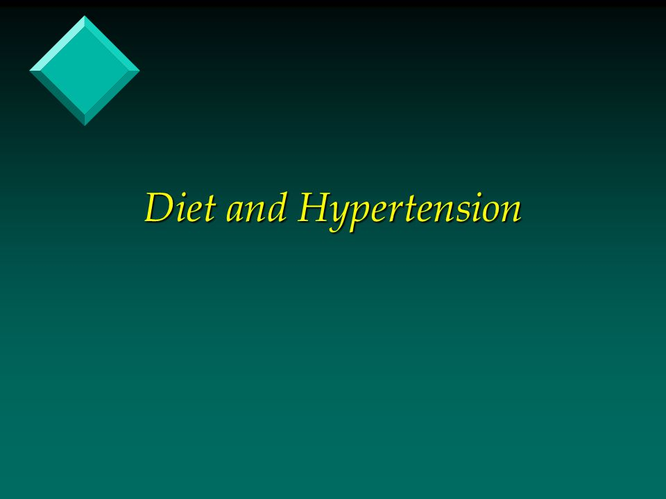 Diet and Hypertension