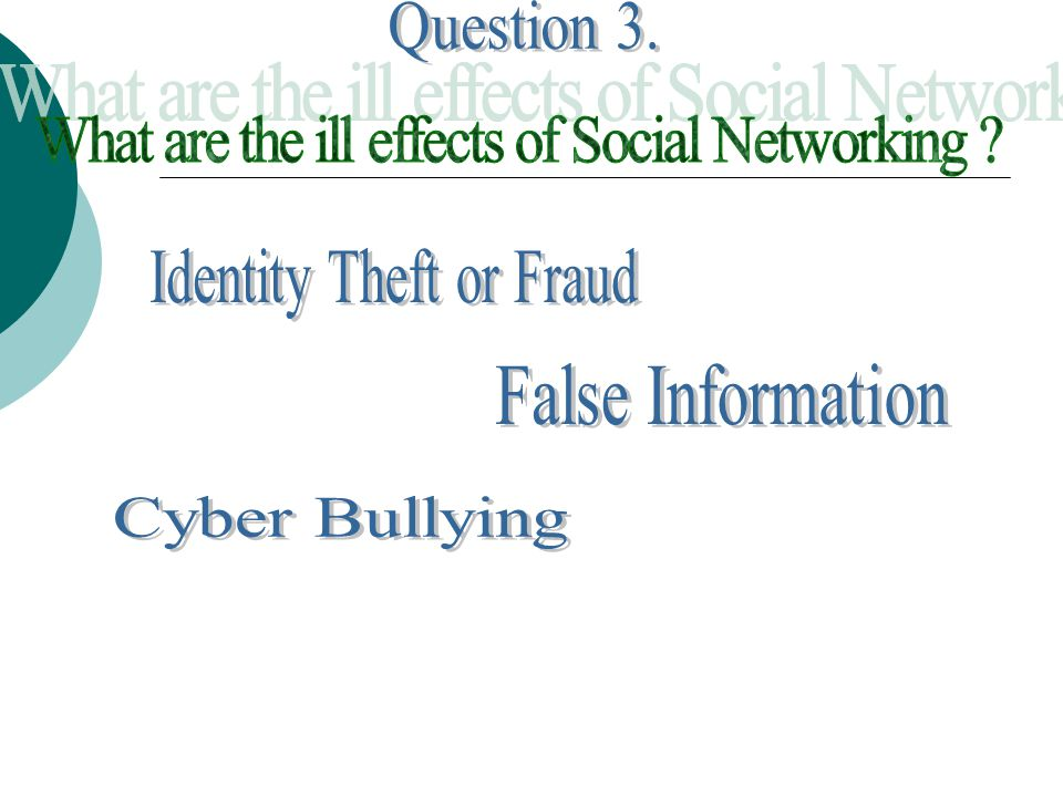 The most obvious disadvantage of social networking sites is the risk of identity theft and fraud.