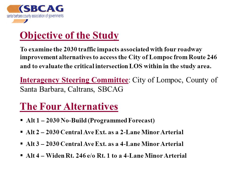 Socioeconomic Forecast for the Study Area