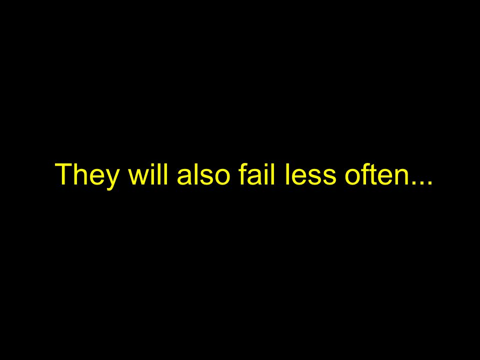 They will also fail less often...