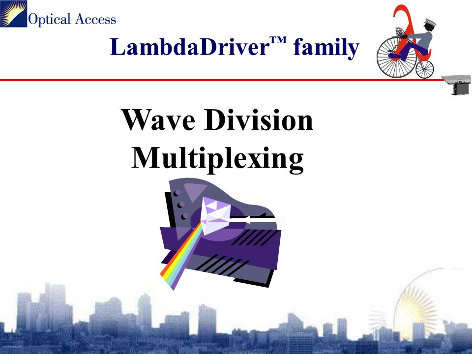LambdaDriver ™ family Wave Division Multiplexing