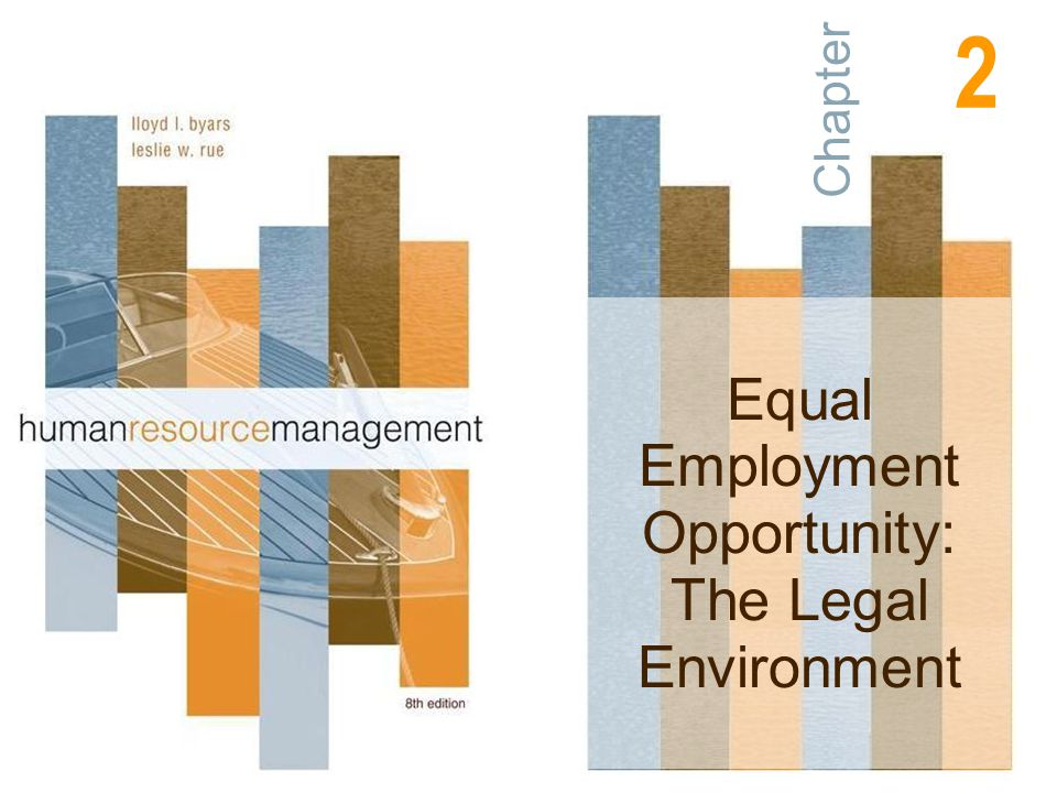 Chapter Equal Employment Opportunity: The Legal Environment 2
