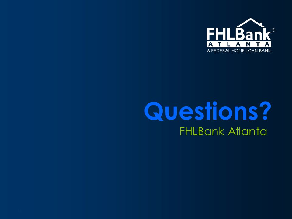 Overview FHLBank Atlanta Questions 16