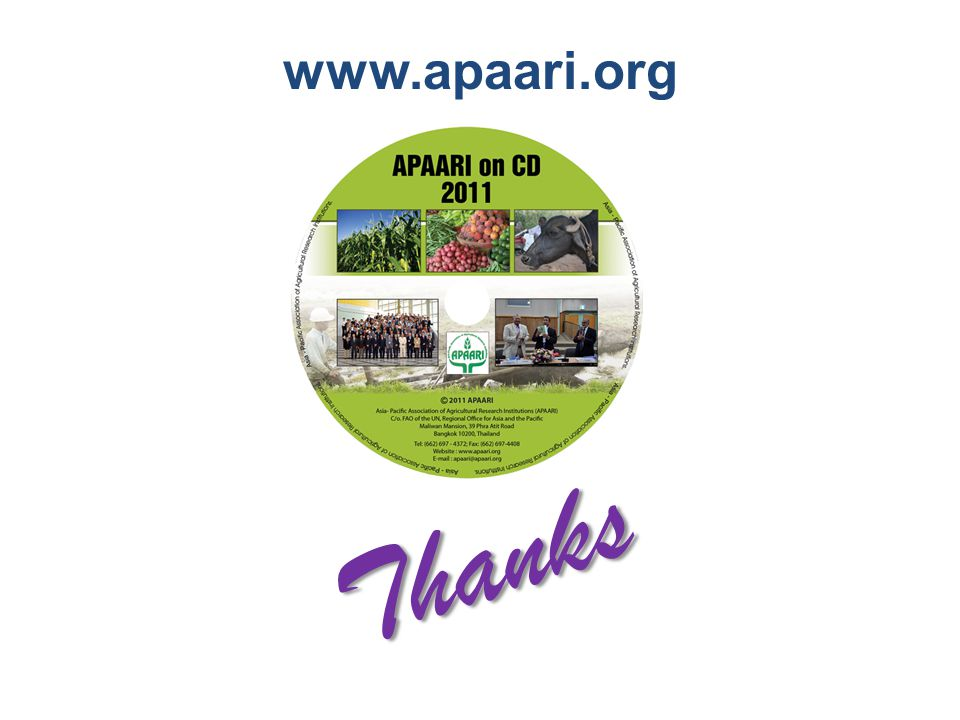 Thanks www.apaari.org