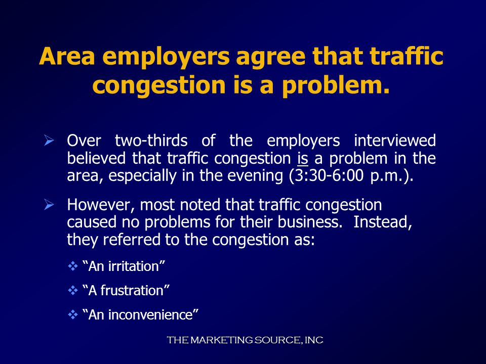 THE MARKETING SOURCE, INC Employers point out problem areas.