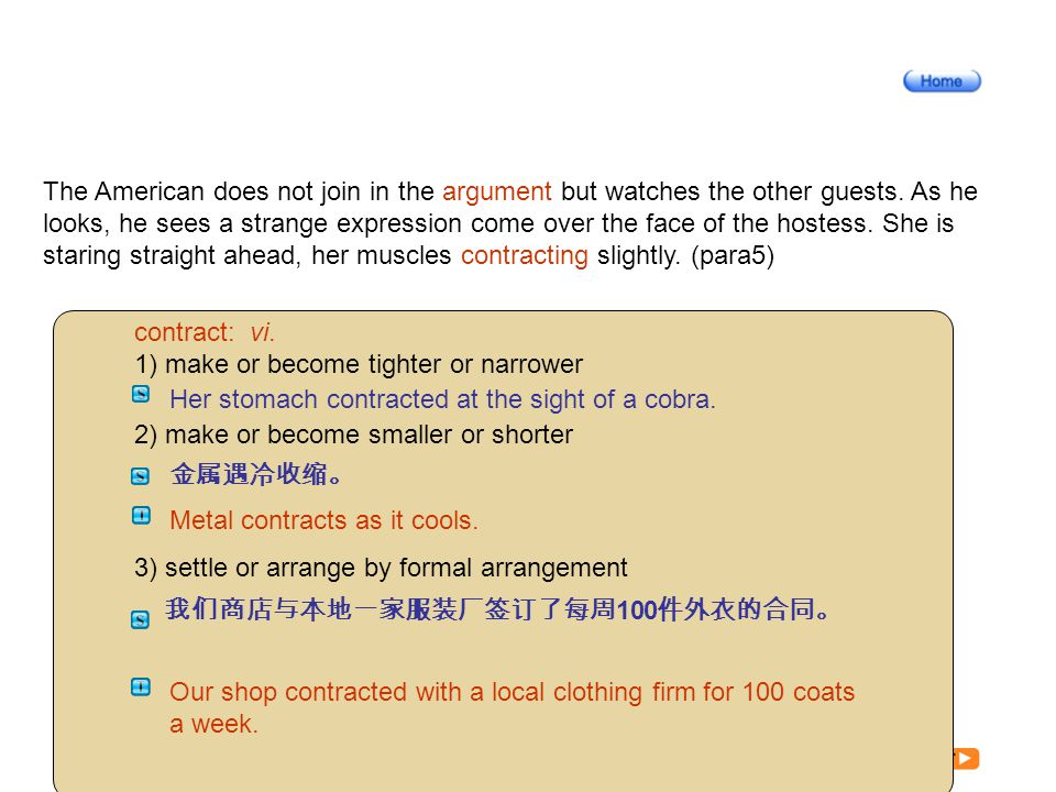 Article3-5_W_ contract The American does not join in the argument but watches the other guests.