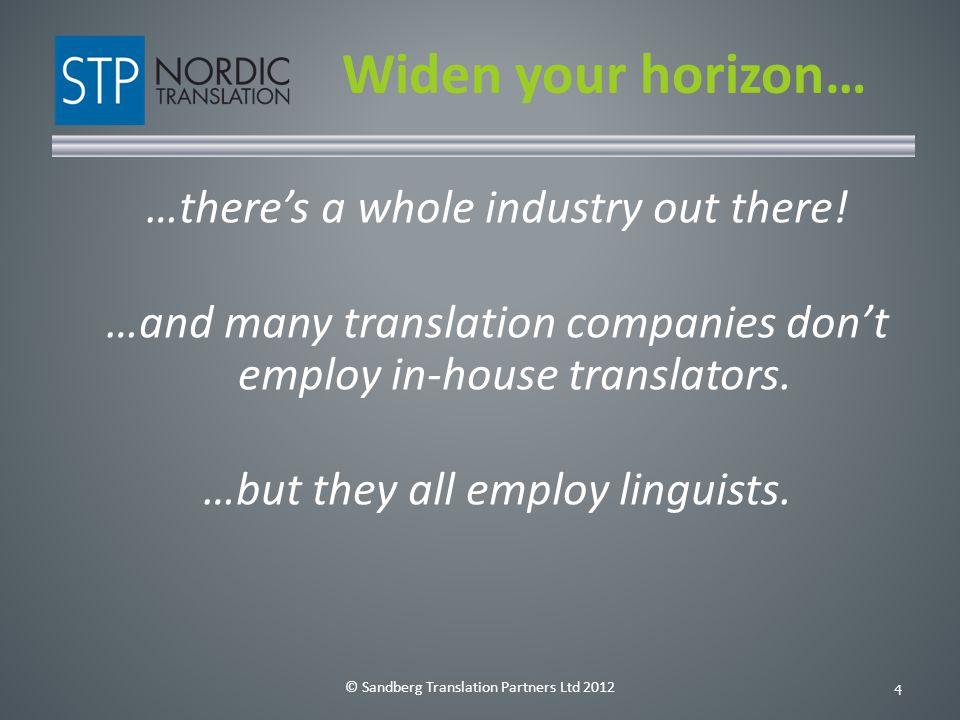 © Sandberg Translation Partners Ltd 20125