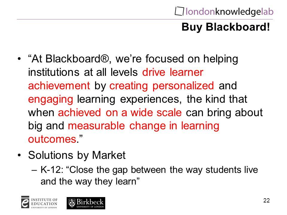 Buy Blackboard.