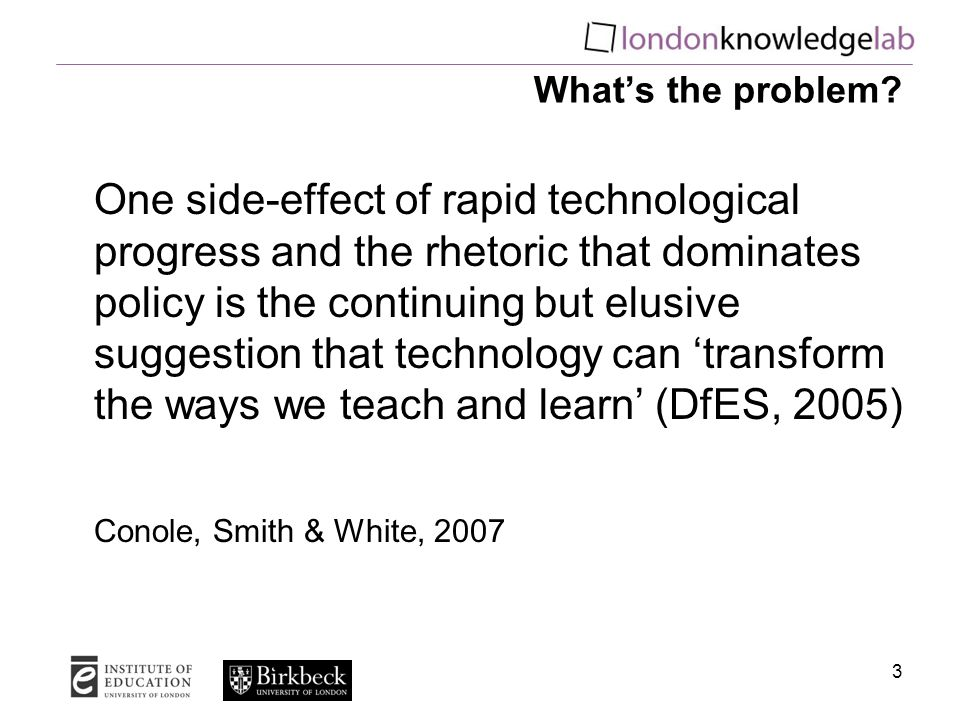 What's the problem? One side-effect of rapid technological progress and the rhetoric that dominates policy is the continuing but elusive suggestion th