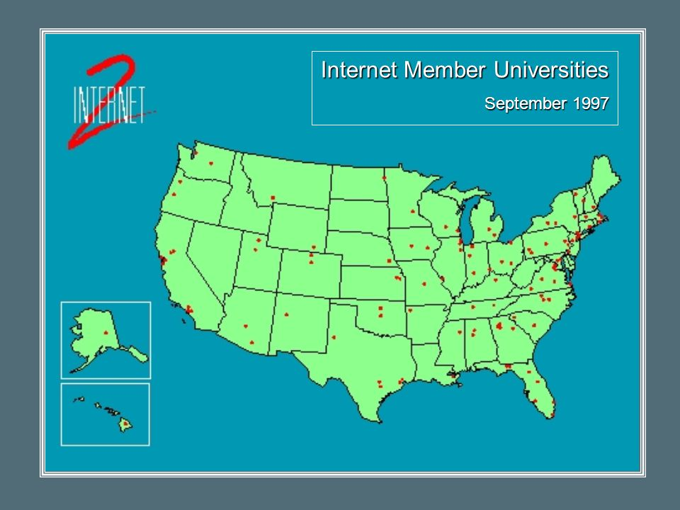 Internet Member Universities September 1997