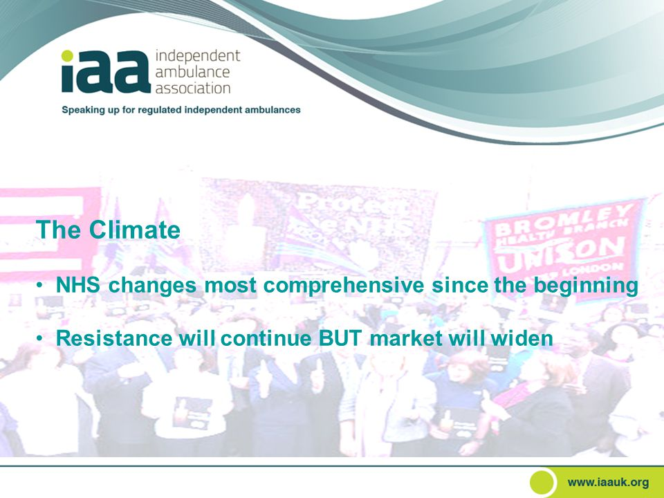The Climate NHS changes most comprehensive since the beginning Resistance will continue BUT market will widen