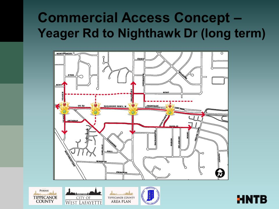 Commercial Access Concept – Yeager Rd to Nighthawk Dr (long term)