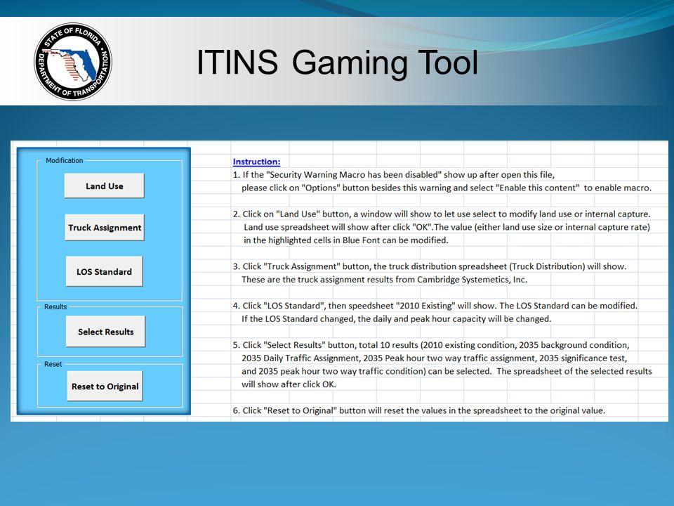 ITINS Gaming Tool