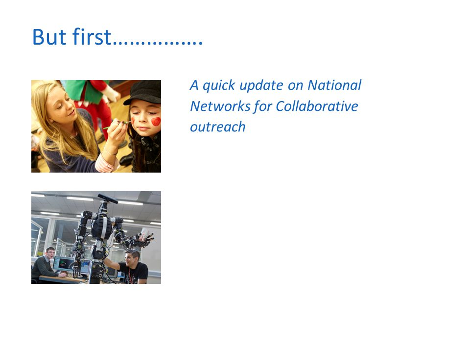 But first……………. A quick update on National Networks for Collaborative outreach
