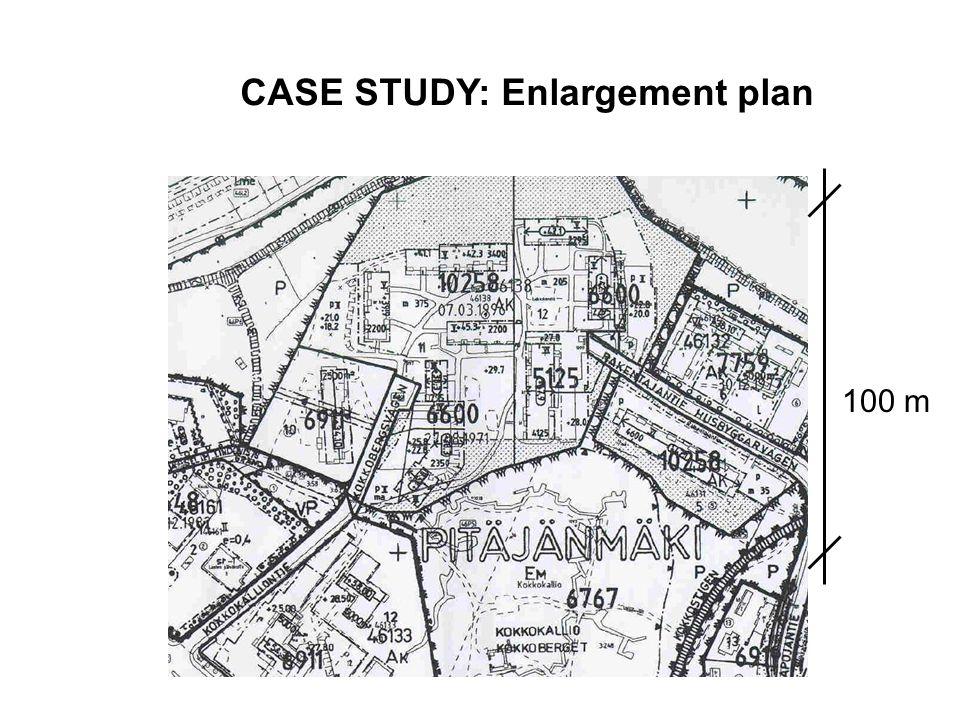 100 m CASE STUDY: Enlargement plan