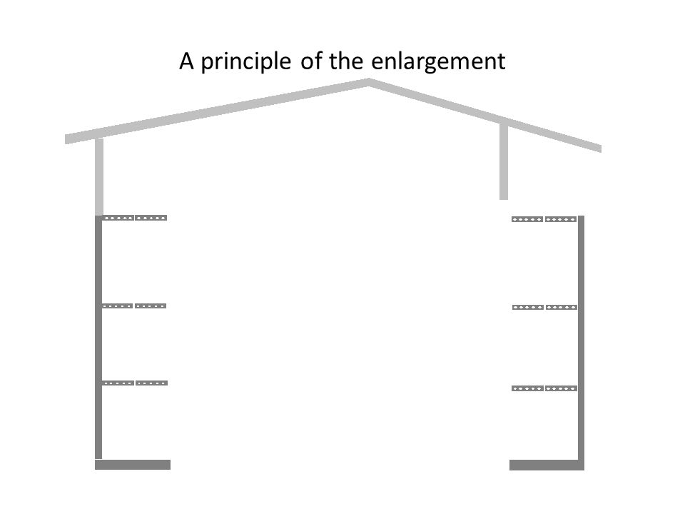 * The enlargement renovation is made possible by an owner of flats, such as the insurance company, the Government or the local authority.
