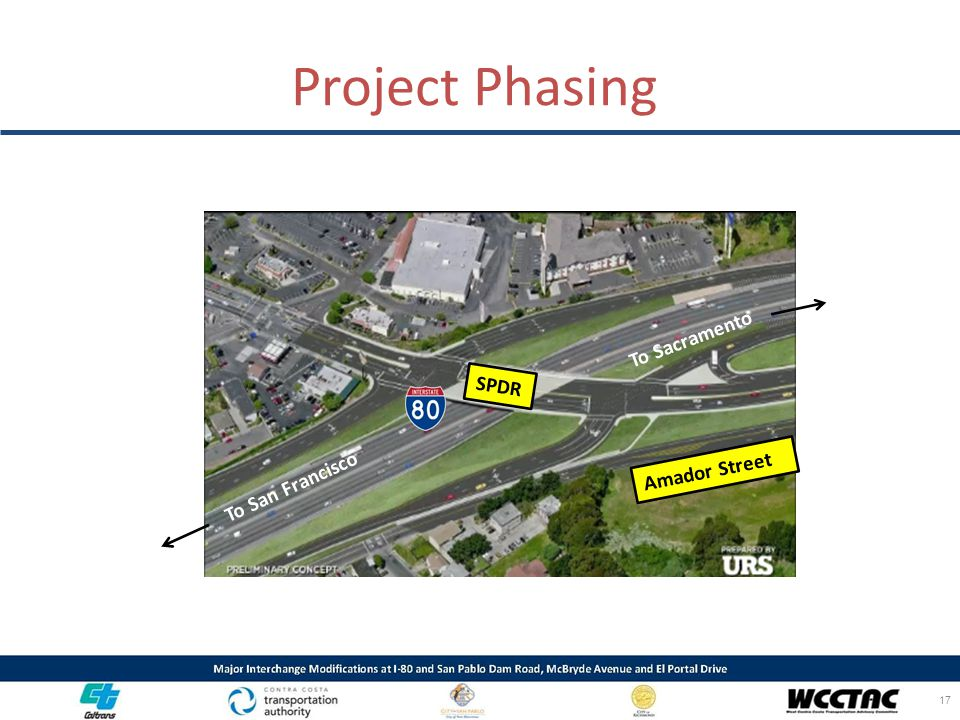 Project Phasing 17 To San Francisco To Sacramento SPDR Amador Street