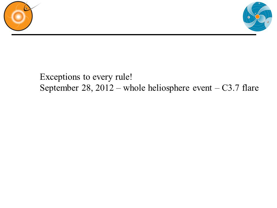 Exceptions to every rule! September 28, 2012 – whole heliosphere event – C3.7 flare