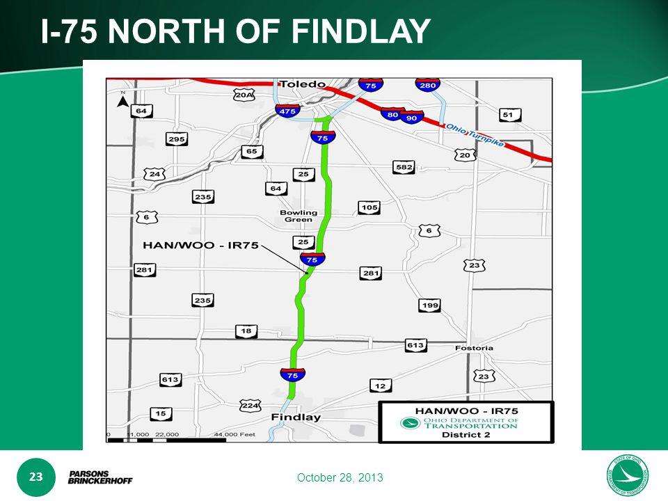 www.transporta6 ion.ohio.gov 23 October 28, 2013 I-75 NORTH OF FINDLAY