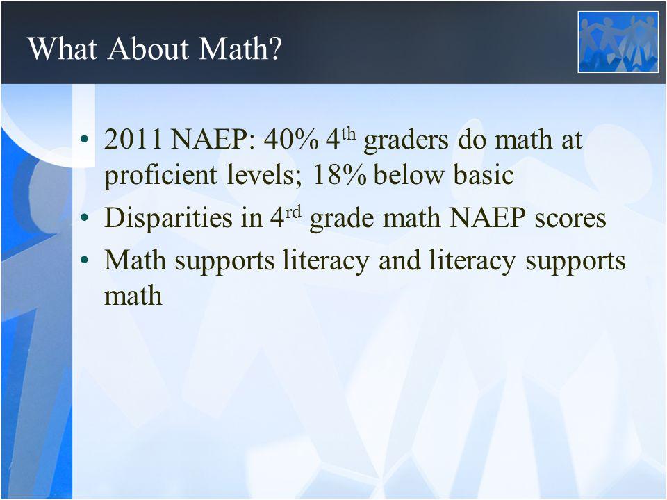 School Entry Skills Predict 3 rd Grade Achievement 3 RD GRADE SCHOOL ENTRY Reading Math General Reading.18***.05*** Math.27***.10*** 2 nd Grade Reading.14***.12**.11** Math.23***.27*** Sources: Duncan, Dowsett, Claessens et al., 2007; Romano, Kohen, Babchishin & Pagani, 2010