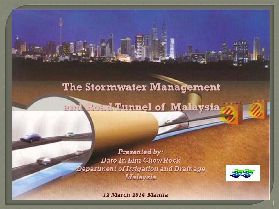 Operation of SMART Stormwater System 1 2 3 4 < 70 Flow (cumec) 70-150 > 150 > 150 prolong Traffic evacuation = 1 hour Lower drain = 70 m3/ s 12