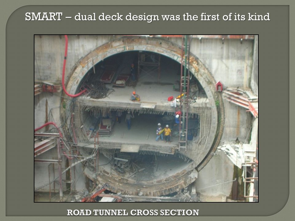 ROAD TUNNEL CROSS SECTION SMART – dual deck design was the first of its kind