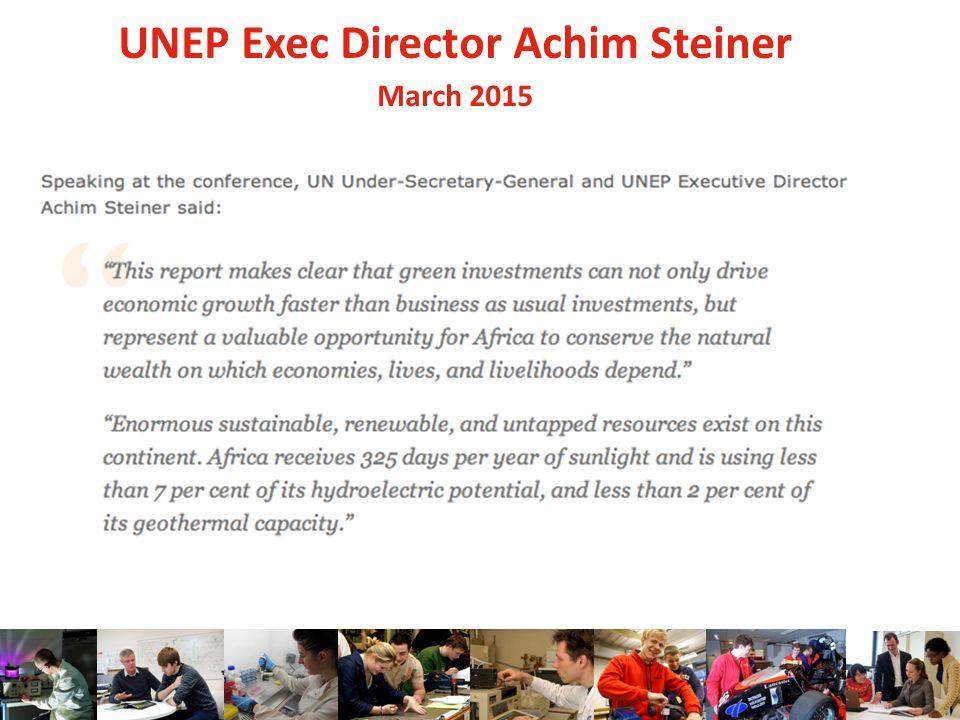 UNEP Exec Director Achim Steiner March 2015