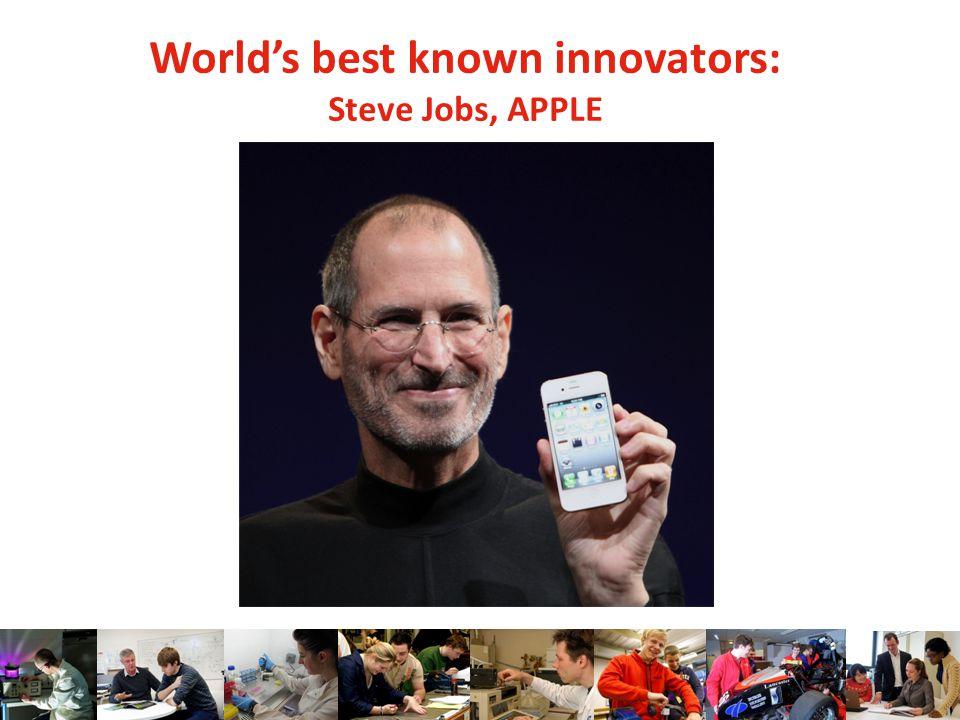 World's best known innovators: Steve Jobs, APPLE